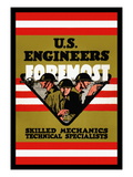 U.S. Engineers Foremost Wall Decal by Charles Buckles Falls