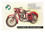 Puch 250 SGS with Cutaway View Wall Decal