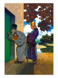 The Chancellor and Pompdebile Wall Decal by Maxfield Parrish