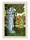 The Yellow Dwarf Rescues Princess, c.1878 Wall Decal by Walter Crane
