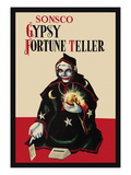Gypsy Fortune Teller Bank Wall Decal