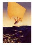 Sinbad and His Seven Brothers Wall Decal by Maxfield Parrish