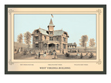 West Virginia Building, Centennial International Exhibition, 1876 Wall Decal by Linn Westcott