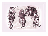 Through the Looking Glass: Alice, Lion, Unicorn and Cake Wall Decal by John Tenniel