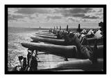 U.S. Navy Airplanes Packed on Deck Wall Decal