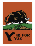 Y is for Yak Wall Decal by Charles Buckles Falls