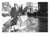 New York City Bike Messenger Wall Decal by Elizabeth Alice Austen