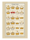 Foreign Crowns: Bohemia, Sardinia Wall Decal by Hugh Clark