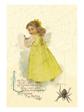 Little Miss Muffett Wall Decal by Maud Humphrey