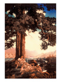 Hilltop Wall Decal by Maxfield Parrish
