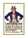 I Am Telling You Wall Decal by James Montgomery Flagg