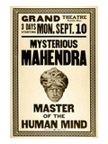 Mysterious Mahendra Master of the Human Mind Wall Decal