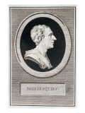 Charles Louis De Secondat, Baron De Montesquieu Giclee Print by Augustin De Saint-aubin