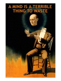 A Mind is a Terrible Thing to Waste Wall Decal