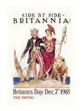 Side by Side with Britannia Wall Decal by James Montgomery Flagg