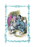 Alice in Wonderland: Dodo Gives Alice a Thimble Wall Decal by John Tenniel