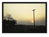 Chicago and North Western Railyard Wall Decal by Jack Delano