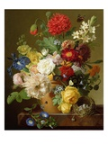 Flower Still Life on a Marble Ledge, 1800-01 Giclee Print by Jan Frans van Dael