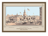 Independence Hall in 1876, Philadelphia Wall Decal by Thompson Westcott