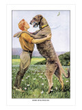 Irish Wolfhound Wall Decal by Louis Agassiz Fuertes