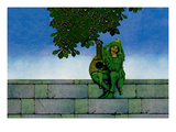 The Green Jester Wall Decal by Maxfield Parrish