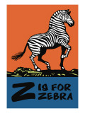 Z is for Zebra Wall Decal by Charles Buckles Falls