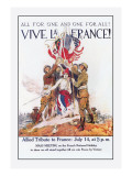 Vive La France! Wall Decal by James Montgomery Flagg