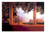 Point du jour Sticker mural par Maxfield Parrish
