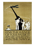 The Range of your Patriotism, U.S. Navy, c.1914 Wall Decal by Vojtech Preissig