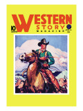 Western Story Magazine: The Cowboy's Hand Wall Decal