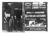 Charles F. Gardner, Electrician and Locksmith Wall Decal