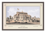Indiana Building, Centennial International Exhibition, 1876 Wall Decal by Thompson Westcott