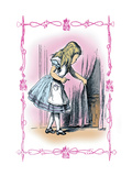 Alice in Wonderland: Alice Tries the Golden Key Wall Decal by John Tenniel