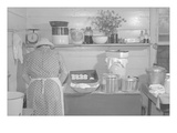 Cooking Biscuits Wall Decal by Marion Post Wolcott