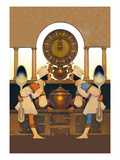 Two Pastry Cooks Wall Decal by Maxfield Parrish