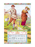 Jack and Jill, c.1885 Wall Decal by Walter Crane