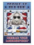 Make It Blue, Break the Monopoly Wallsticker af Kelly, Richard