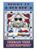 Make It Blue, Break the Monopoly Wall Decal by Richard Kelly