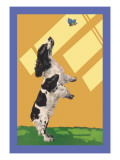 The Cocker Spaniel Sees a Butterfly Wall Decal by Diana Thorne