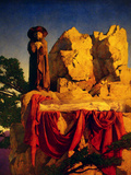 Scene from Snow White Autocollant mural par Maxfield Parrish