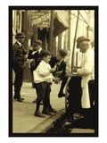 Where the Newsboy's Money Goes Wall Decal by Lewis Wickes Hine