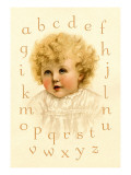 Little Girl's Alphabet Wall Decal by Ida Waugh