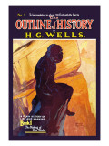 Outline of History by H.G. Wells, No. 1: The Making of Our World Wall Decal