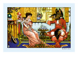 Beauty and the Beast, The Courtship, c.1900 Wall Decal by Walter Crane