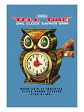 Tell Time Owl Clock Wall Decal