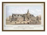 Pennsylvania Building, Centennial International Exhibition, 1876 Wall Decal by Thompson Westcott