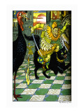 The Yellow Dwarf Rides A Cat, c.1878 Wall Decal by Walter Crane