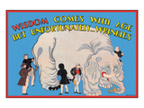 Wisdom Comes with Age Wall Decal