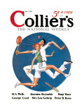 Collier's: Tennis Collision Wall Decal