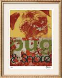 Pug & Snore Limited Edition Framed Print by M.J. Lew